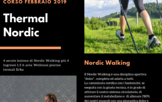 nordic walking piscina termale