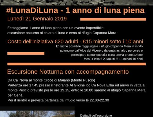 #LunaDiLuna – 1 anno di Luna Piena – 21 Gennaio 2019