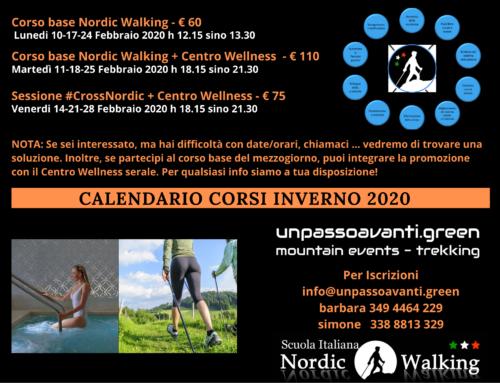#ThermalNordic – Corsi Base Nordic Walking e ingresso Area WellNess Erba – Febbraio 2020