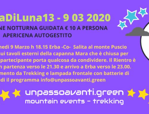 #LunaDiLuna – Monte Puscio – 9 Marzo 2020